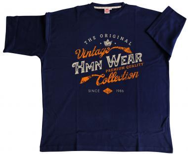 T-Shirt HMN Wear in marineblau