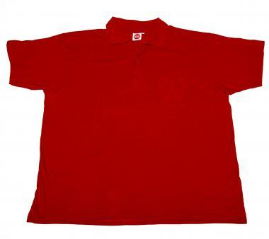 Polo-Pique rot mit Brusttasche