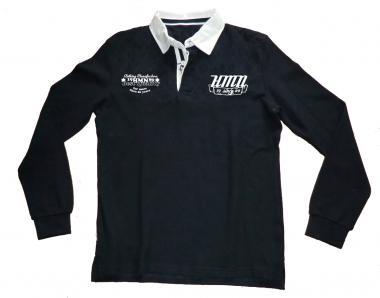 Longsleeve Polo Fashion navy/weiß