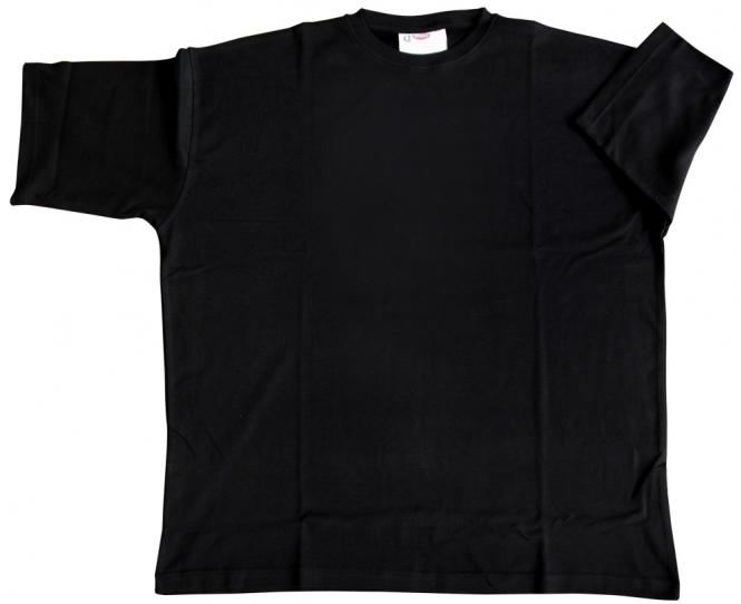 T-Shirt Basic schwarz 6xl