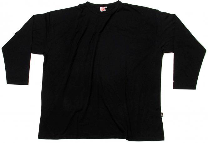 Langarm T-Shirt Basic schwarz